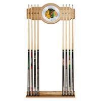 NHL Chicago Blackhawks Cue Rack with Mirror