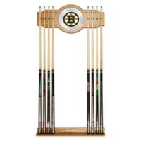 NHL Boston Bruins Cue Rack with Mirror