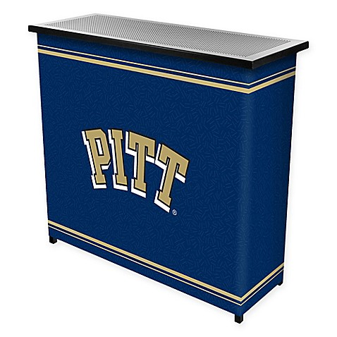 NCAA University of Pittsburgh Portable Bar with Case Bed