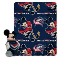 NHL Columbus Blue Jackets & Mickey Hugger and Throw Blanket Set by The Northwest