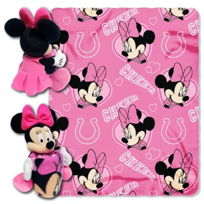 NFL Indianapolis Colts U0026 Minnie Hugger And Throw Blanket Set By The  Northwest