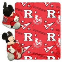 Rutgers University & Mickey Hugger and Throw Blanket Set by The Northwest