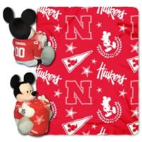University of Nebraska & Mickey Hugger and Throw Blanket Set by The Northwest
