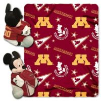 University of Minnesota & Mickey Hugger and Throw Blanket Set by The Northwest