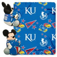 University of Kansas & Mickey Hugger and Throw Blanket Set by The Northwest