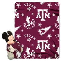 Texas A&M University & Mickey Hugger and Throw Blanket Set by The Northwest