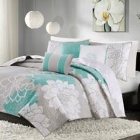 Madison Park Lola King/California King Quilted Coverlet Set in Aqua