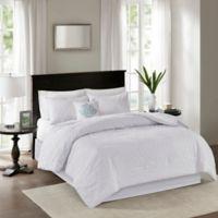 Madison Park Quebec 5-Piece Queen Comforter Set in White