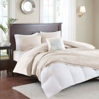 Madison Park Quebec Convertible Full/Queen Coverlet-to-Duvet Cover Set in Ivory