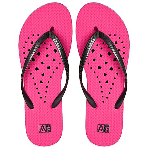 image of Women's Heart AquaFlops Shower Shoes in Pink