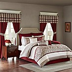 Madison Park Essentials Jelena 24-Piece California King Complete Comforter Set in Red