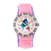 Disney® Finding Dory Children's Nemo Time Teacher Watch in Clear Plastic w/Pink Nylon Strap