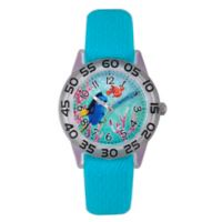 Disney® Finding Dory Children's 32mm Nemo Time Teacher Watch in Clear Plastic w/Aqua Nylon Strap