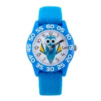 Disney® Finding Dory Children's Smiling Time Teacher Watch in Blue Plastic w/Blue Nylon Strap