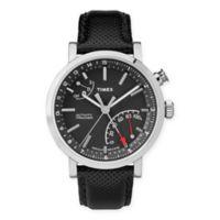 Timex Metropolitan Unisex 42mm Leather Strap Watch + Activity Tracker