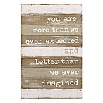 "Mud Pie® ""Better Than We Imagined"" Wood Plank Wall Art"