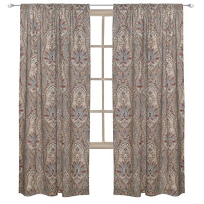 Levtex Home Kasey 84 Inch Rod Pocket Window Curtain Panel In Grey