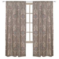 Levtex Home Kasey 84-Inch Rod Pocket Window Curtain Panel in Grey