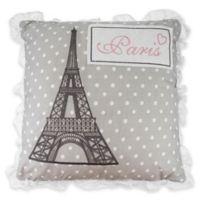 Levtex Home Margaux Paris Polka Dot Throw Pillow in Grey