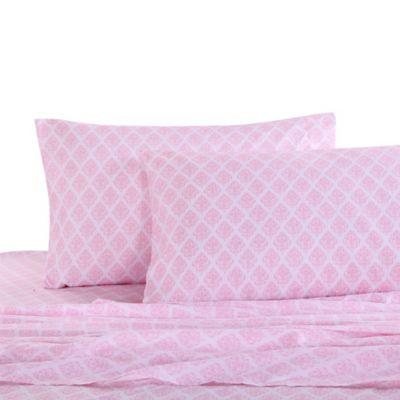 Levtex Home Margaux Damask Full/Queen Sheet Set In Pink