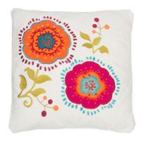 Levtex Home Tivoli Bone Applique Flowers Square Throw Pillow