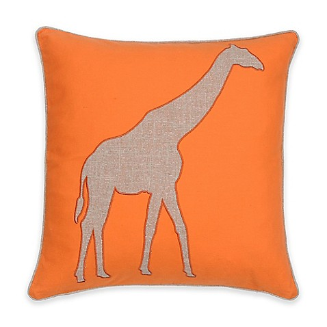 Bed Bath And Beyond Orange Throw Pillows : Buy Levtex Windsong Giraffe Square Throw Pillow in Orange from Bed Bath & Beyond