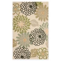 Safavieh Four Seasons Soho Floral 5-Foot x 7-Foot Indoor/Outdoor Area Rug in Beige/Green