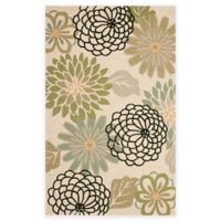Safavieh Four Seasons Soho Floral 5-Foot x 8-Foot Indoor/Outdoor Area Rug in Beige/Green