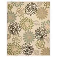 Safavieh Four Seasons Floral Soho 8-Foot x 10-Foot Indoor/Outdoor Area Rug in Beige/Green