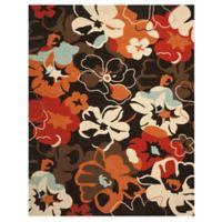 Safavieh Four Seasons 8-Foot x 10-Foot Paradise Indoor/Outdoor Area Rug in Black/Orange