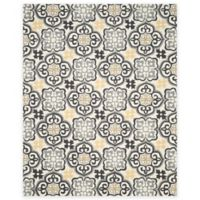 Safavieh Four Seasons Tile 8-Foot x 10-Foot Indoor/Outdoor Area Rug in Grey/Ivory