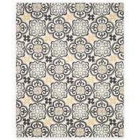 Safavieh Four Seasons Tile 8-Foot x 10-Foot Indoor/Outdoor Area Rug in Grey/Ivory