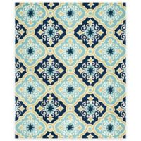 Safavieh Four Seasons Diamond Tile 8-Foot x 10-Foot Indoor/Outdoor Area Rug in Light Blue