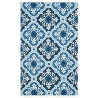 Safavieh Four Seasons Diamond Tile 8-Foot x 10-Foot Indoor/Outdoor Area Rug in Navy