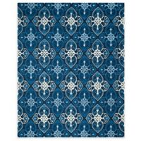 Safavieh Four Seasons Star Tile 8-Foot x 10-Foot Indoor/Outdoor Area Rug in Ivory/Navy