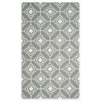 Safavieh Four Seasons Diamond Link 3-Foot 6-Inch x 5-Foot 6-Inch Indoor/Outdoor Rug in Grey/Ivory