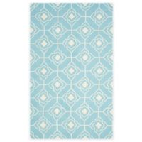 Safavieh Four Seasons Diamond Link 3-Foot 6-Inch x 5-Foot 6-Inch Indoor/Outdoor Rug in Blue/Ivory