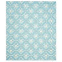 Safavieh Four Seasons Diamond Link 8-Foot x 10-Foot Indoor/Outdoor Area Rug in Blue/Ivory