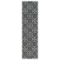 Safavieh Four Seasons Fleur 2-Foot 3-Inch x 8-Foot Indoor/Outdoor Runner in Grey