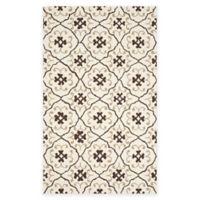 Safavieh Four Seasons Fleur 3-Foot 6-Inch x 5-Foot 6-Inch Indoor/Outdoor Rug in Ivory/Grey
