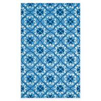 Safavieh Four Seasons Fleur 3-Foot 6-Inch x 5-Foot 6-Inch Indoor/Outdoor Rug in Blue/Ivory