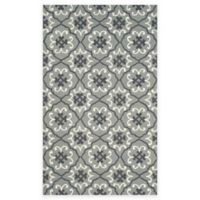 Safavieh Four Seasons Fleur 3-Foot 6-Inch x 5-Foto 6-Inch Indoor/Outdoor Area Rug in Grey/Ivory