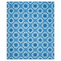 Safavieh Four Seasons Fleur 8-Foot x 10-Foot Indoor/Outdoor Area Rug in Blue/Ivory