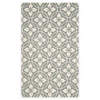 Safavieh Four Seasons Circle Floral 3-Foot 6-Inch x 5-Foot 6-Inch Indoor/Outdoor Rug in Grey/Ivory