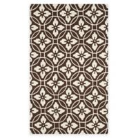 Safavieh Four Seasons Circle Floral 3-Foot 6-Inch x 5-Foot 6-Inch Indoor/Outdoor Rug in Chocolate
