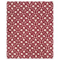 Safavieh Four Seasons Circle Floral 8-Foot x 10-Foot Indoor/Outdoor Area Rug in Red/Ivory