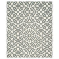 Safavieh Four Seasons Circle Floral 8-Foot x 10-Foot Indoor/Outdoor Area Rug in Grey/Ivory
