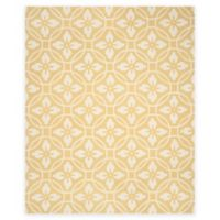 Safavieh Four Seasons Circle Floral 8-Foot x 10-Foot Indoor/Outdoor Area Rug in Gold/Ivory