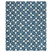Safavieh Four Seasons Circle Floral 8-Foot x 10-Foot Indoor/Outdoor Area Rug in Navy/Ivory