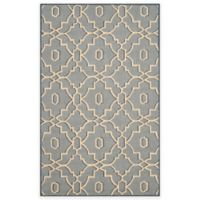 Safavieh Four Seasons Links 3-Foot 6-Inch x 5-Foot 6-Inch Indoor/Outdoor Area Rug in Blue/Ivory